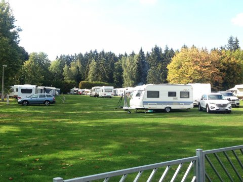 Caravans and tents area