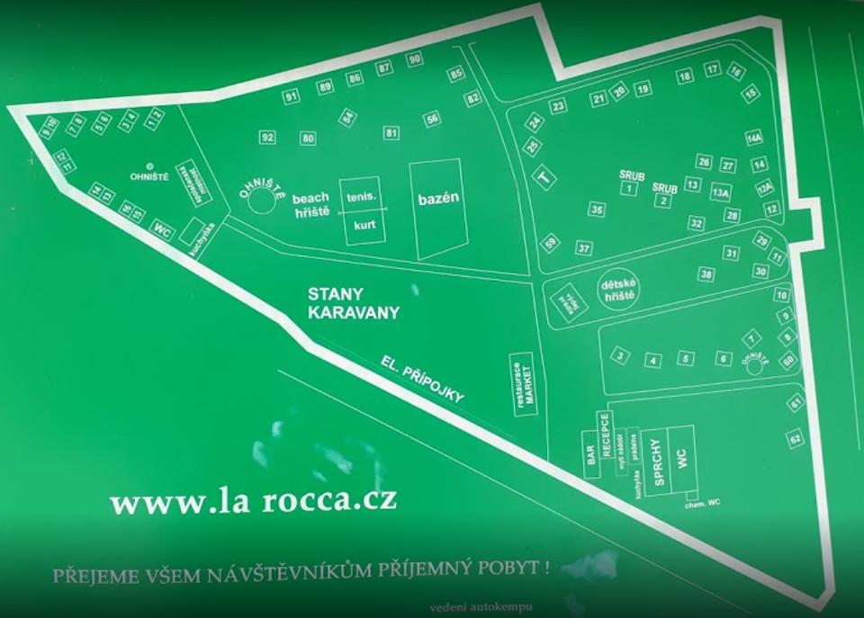 Plán kempu La Rocca